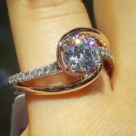 Gabriel & Co. Rose Gold bypass Ring