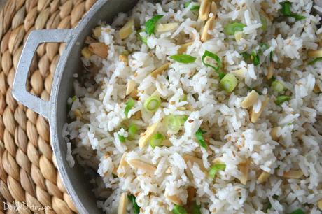 Toasted Almond-Scallion Rice