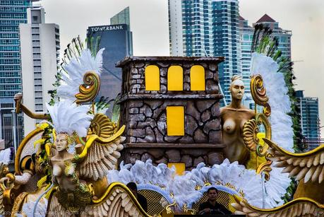 Carnival float in Panama City 2013