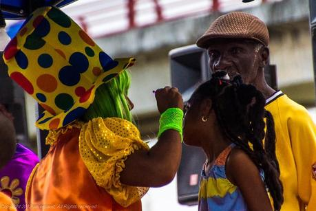 Face painting at 2013 Panama City carnival