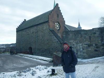 Travelling in Norway - at Askershus Fortress in Oslo.