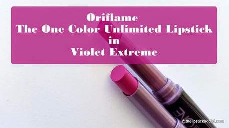 Oriflame | One Color Unlimited Lipstick in Violet Extreme