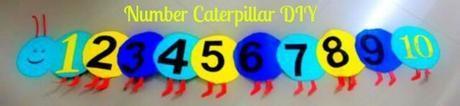 DIY Caterpillar number chart