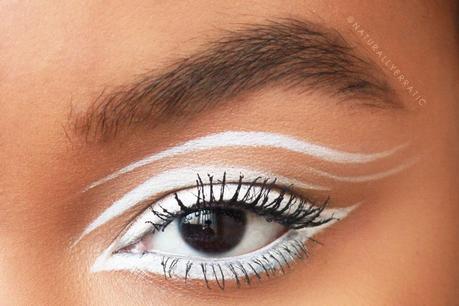 White Eyeliner Makeup // Eyes