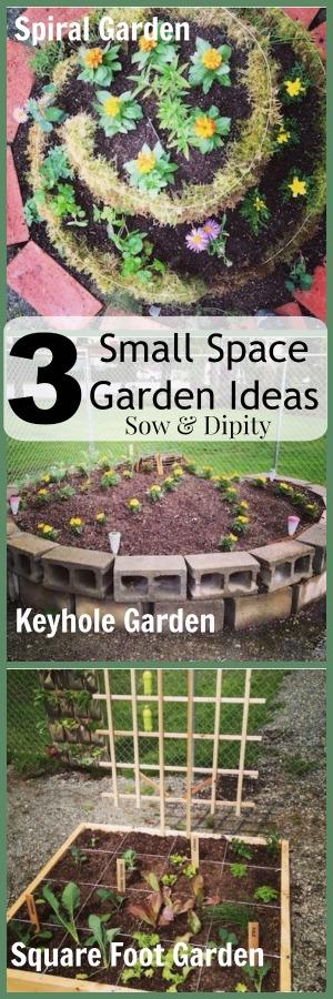 Three Small Space Garden Ideas