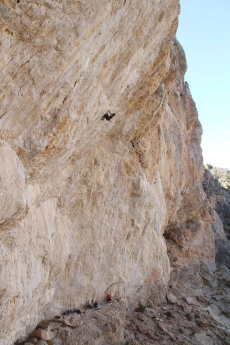 Eric Foss snapped this photo of Ethan in the middle of the steeps on Jumbo Love (5.15b)