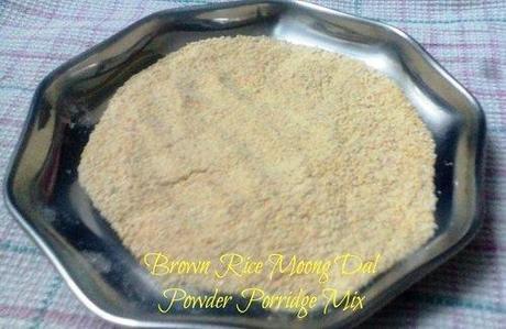 brown rice moong dal porridge powder mix