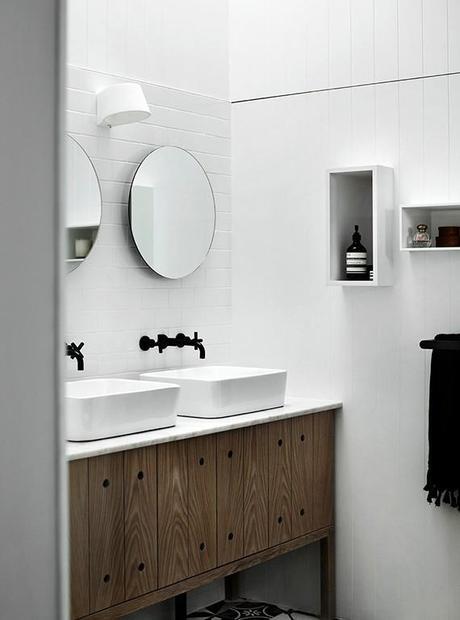 decor trend round bathroom mirrors paperblog