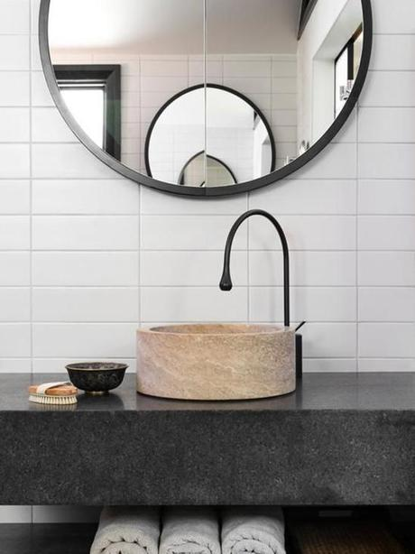 Bathroom Mirrors Round decor trend: round bathroom mirrors - paperblog