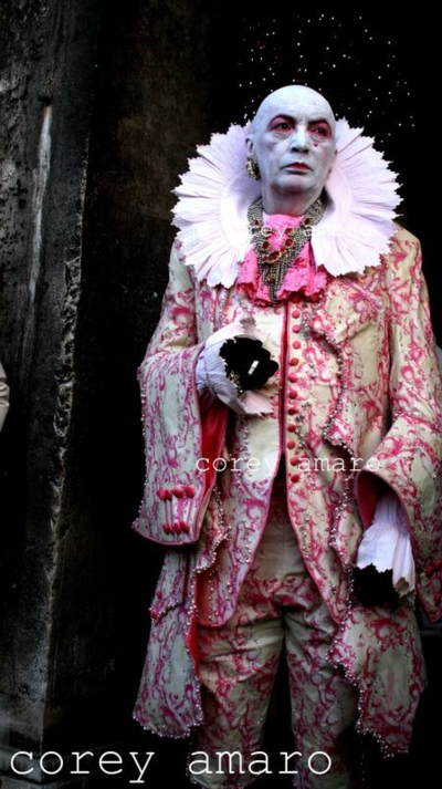 Venice carnival corey amaro photography Man in pink venice carnival