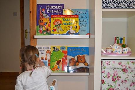 Isabelle's book wall