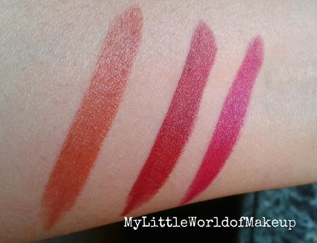 Oriflame's The One - Matte Lipstick Review in Brownie Delight , Marry Maroon & Berrylicious