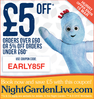 In The Night Garden Live Preview & Discount Code