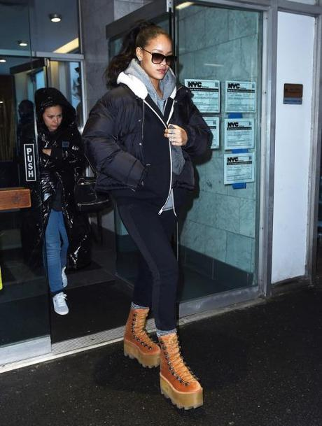 Rihanna Out & About In NYC