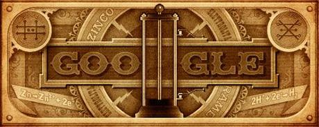 Google Doodle on 270th birthday of Alessandro Volta ~ inventor of battery
