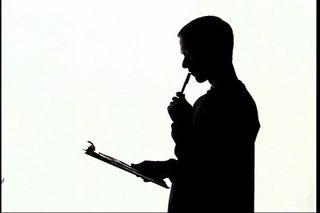 Man-thinking-silhouette-stock-footage-silhouette-man-reviewing-document