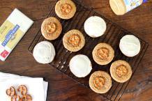 White Chocolate Pretzel Peanut Butter Cookies