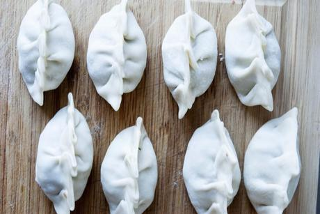 Chinese Dumplings: radicchio, beef and mint!