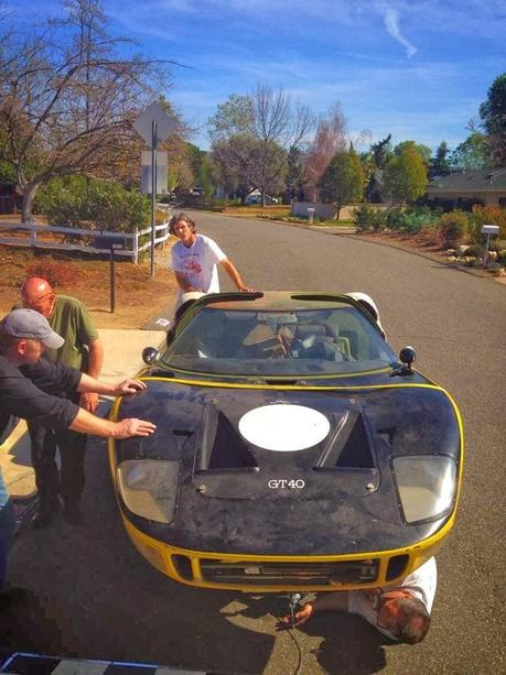 Barnfind GT 40 pulled out of a garage where it sat since 1977