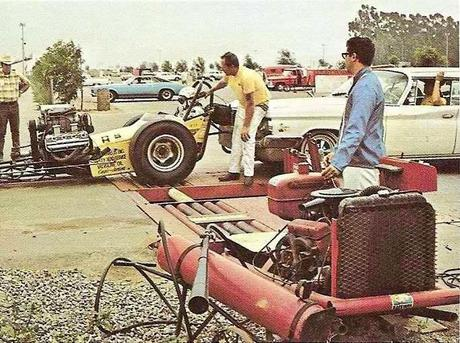 Hot car rollers at the dragstrips in the 60's n 70s. When a Chevy engine was only good for starting a Hemi