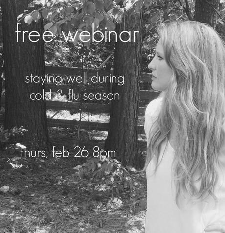 free webinar!  staying well during cold & flu season