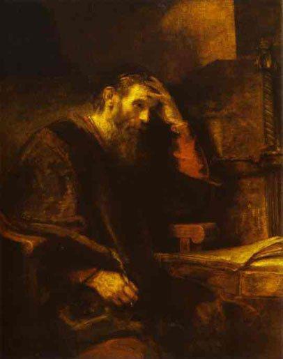 Saint Paul in Prison – by Rembrandt