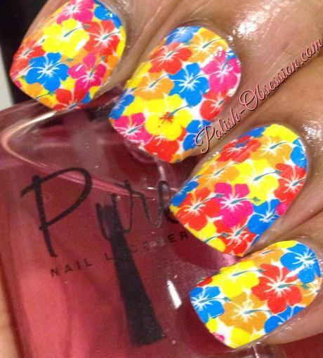 OMG Nail Strips - Rainbow Floral