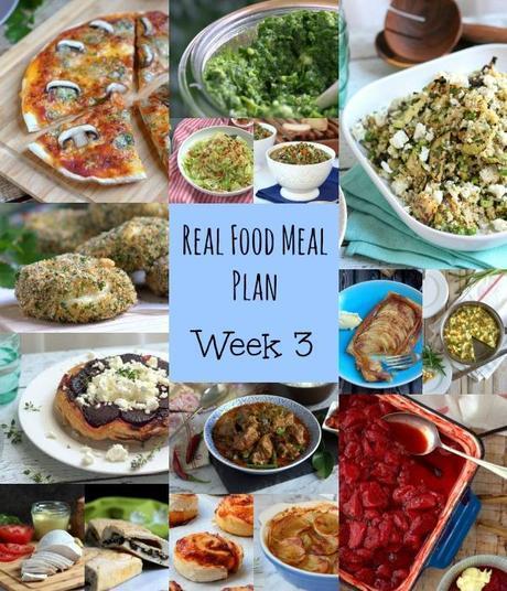 Our Real Food Meal Plan – Week 3 2015