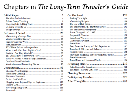 Receive a Free Copy of The Long-Term Traveler's Guide!