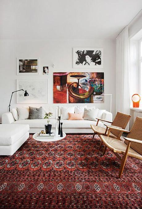 Pelle Lundquist, Art/Creative Direction | apartment renovation, G채strikegatan in Stockholm #rug