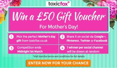 ToxicFox Mother's Day Competition & Discount Code