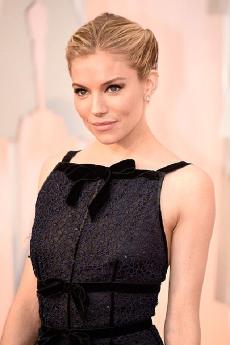 Sienna Miller at the 87th Annual Academy Awards  Makeup by Charlotte Tilbury