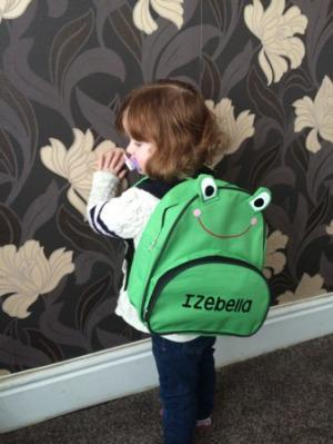 New Personalised backpack from Cheeky Baby Tees