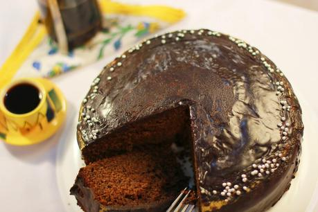 Bajra and Atta Chocolate Cake and some Ganache #PearlMillet #WholeWheat #Wholesome #for for theCake