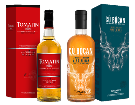 Tomatin Cask Strength And Cù Bòcan Virgin Oak