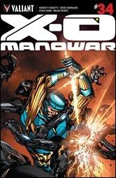 X-O Manowar #34 Cover - Guice Variant