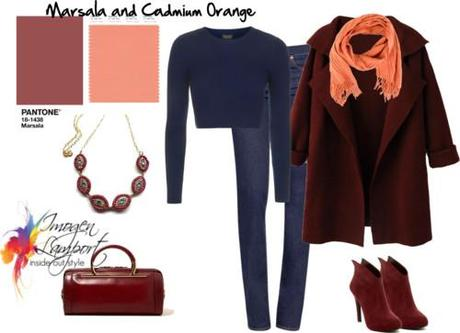 Marsala and cadmium orange