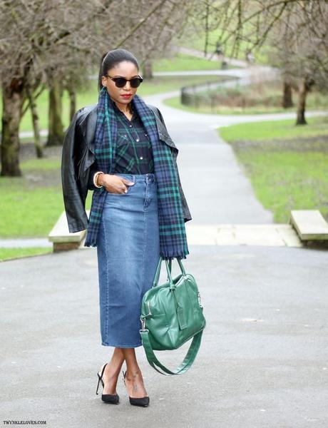 Today I'm Wearing: Double Tartan & Denim Outfit