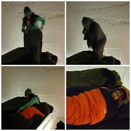 me in sleeping bag