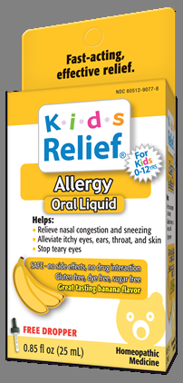 Slay Your Child's Allergy Symptoms with Kids Relief Allergy Oral Liquid!