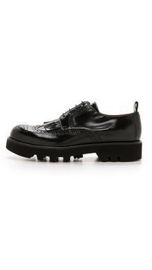 AMI Vibram Sole Brogues lug sole shoes wing