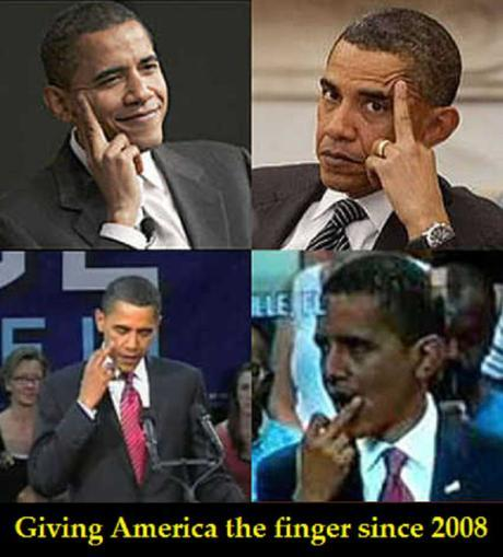 Obama gives America the finger