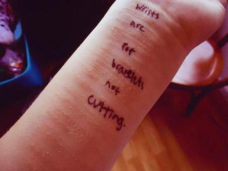 Girls, stop cutting, Jesus loves you