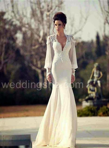 Inspiration: Stunningly Gorgeous Long-sleeved Wedding Gowns