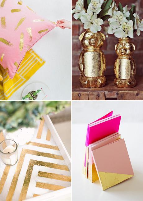 gold foil DIY projects