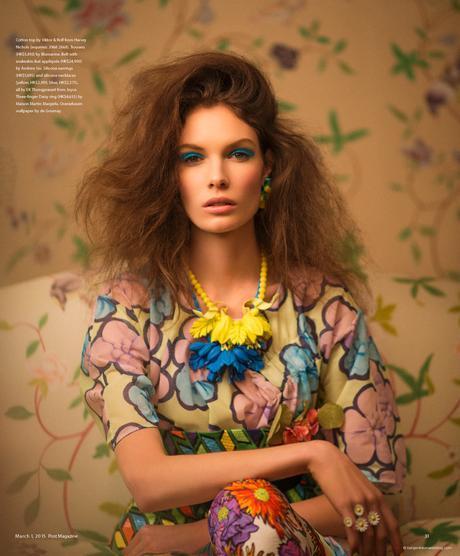 Alexandra Martynova wearing Viktor & Rolf in Budding Romance @ Benjamin Kanarek