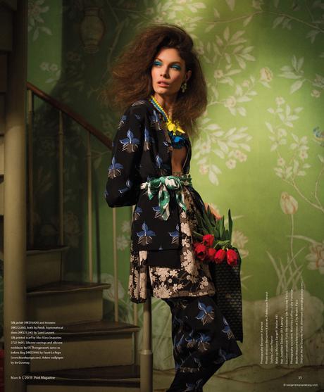 Alexandra Martynova wearing Fendi and Saint Laurent in Budding Romance @ Benjamin Kanarek