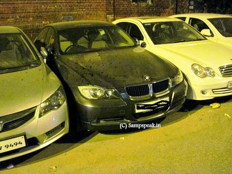 worst and selfish parking of cars ~ from Delhi to Nottingham !!