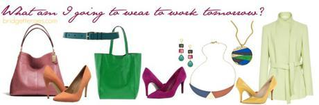 Throwback Thursday: Wearing Color to Work, Basic Dresses and Go Go Golosh