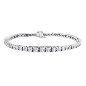 Forevermark by Galili & Co. 4.62 ctw Line Bracelet with Round Brilliant Foreveramark Diamonds set in 18k White Gold